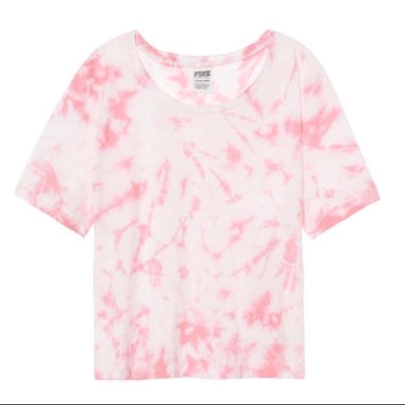 8ef5300e847ab0 Nwt Pink Vs Perfect Crop Crew Tee